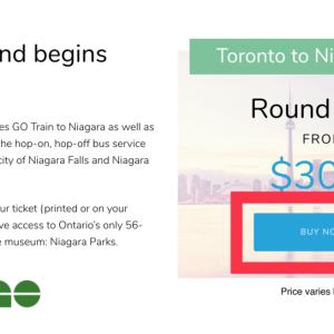 1泊2日でたったの60ドル? 激安ナイアガラ旅行の探し方 Niagara Parksのお得なチケット