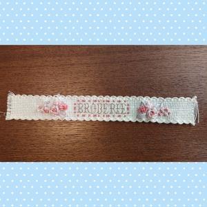 リボン刺しゅうの刺しゅう糸ホルダー完成!かわいい刺しゅう24号~刺しゅう糸ホルダー