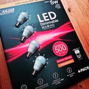 コストコの調光器対応LED電球E17