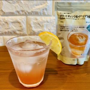 無印良品【ブラッドオレンジ&イタリアンレモン】アレンジドリンクの作り方
