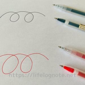 無印良品の文房具【ゲルインキボールペン】キャップ式・ノック式の口コミ