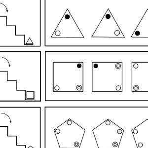 プリント 図形の回転 階段編2
