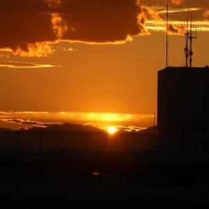 昨夕の 夕焼けと富士山