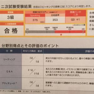小3次男【英検3級】二次もギリギリ合格でした!