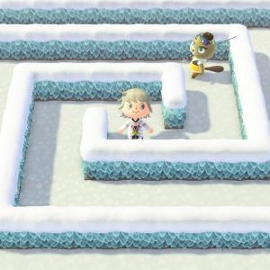 【あつ森】噴水広場と薔薇の迷路作った:プレイ日記1