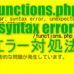 case by case 1 function.phpの編集ミスでエラーが発生した場合の対処