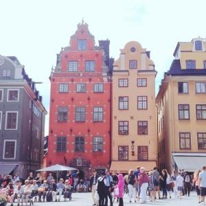 スウェーデン ストックホルムの雑貨めぐり旅:④すてきな色づかいの建物