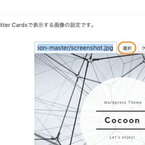 Cocoonでホームイメージを変更しブログカードなどで表示される画像を変える方法