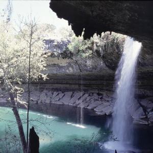 【テキサスの絶景】天然の半洞窟湖「ハミルトンプール」で滝に打たれながら泳ぎたい!
