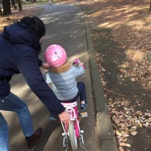 ストライダー育ちの4歳さん、自転車に挑戦。運動が苦手でも10分で乗れた!