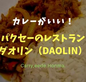 カレーがいい!パクセーのレストラン 「ダオリン(Daolin)」