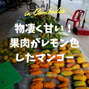 物凄く甘い! 果肉がレモン色したマンゴー