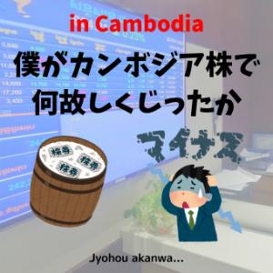 僕がカンボジア株で何故しくじったか
