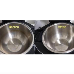 ホットクックの内鍋の汚れは重曹できれいに落ちました