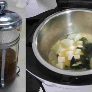 ホットクックで本格だしの味噌汁の簡単レシピ
