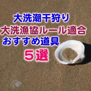 茨城の大洗に潮干狩りに行くときの大洗漁協ルール適合おすすめ道具5選