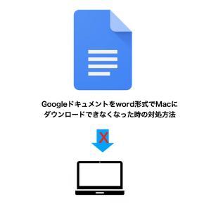 Googleドキュメントをword形式でMacに突然ダウンロードできなくなった時の対処方法