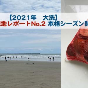 【2021年潮干狩り情報その2】大洗は本格シーズンが始まりました!ハマグリが成長しています