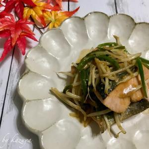 鮭ともやしの甘味噌炒め 撮影秘話