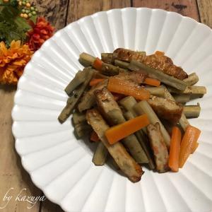 ごぼうと薩摩揚げの炒め煮|冬の小物