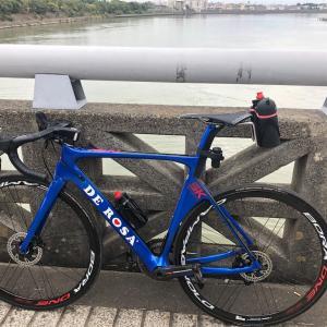 本日のライド 江戸川〜利根川河口から126km地点までの往復136km