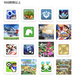 My Nintendo アプリ配信!現在100時間以上プレイしているSwitchタイトル等