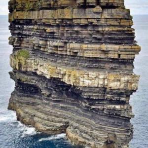 ケーキみたいな断層の島