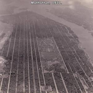 1931年のNYのマンハッタンの写真