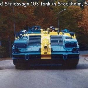 スウェーデンの戦車のペイントがカッコイイw!!
