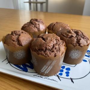 ホットケーキミックスでチョコレートマフィン