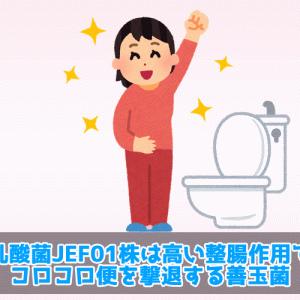 乳酸菌JEF01株は高い整腸作用でコロコロ便を撃退する善玉菌
