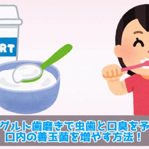 ヨーグルト歯磨きで虫歯と口臭を予防!口内の善玉菌を増やす方法!