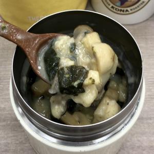 ほうれん草とマッシュルームのチーズスープ オートミール