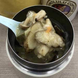 ごぼうとしめじの豆乳スープ オートミール