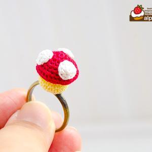 ちっちゃなあみぐるみきのこのリング