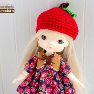 オビツ11&リカちゃん、プチブライスのためのりんご帽子