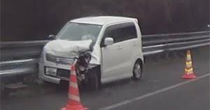 高速道路で出会った2つの事故シーン 20200119