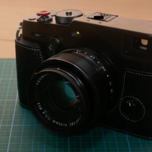 富士フィルムX-Pro3用の本革ハーフケース(TP社製)を装着してみた