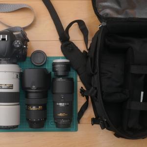 NikonD4s+300mmF4装着状態で収納できる、激安?Amazonベーシックカメラリュックを買った話
