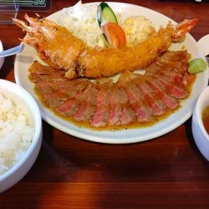 【岡山】レストランまつもと ステーキと大海老フライのランチが凄い