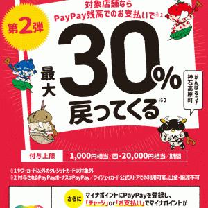 【神石高原】最大30%戻ってくるキャンPay第二弾がやってきた!