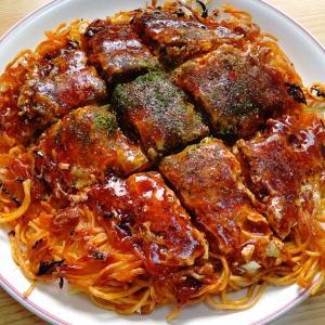 【神辺】お好み焼き あぐら屋 麺パリッパリの府中焼きは辛麺が合う!