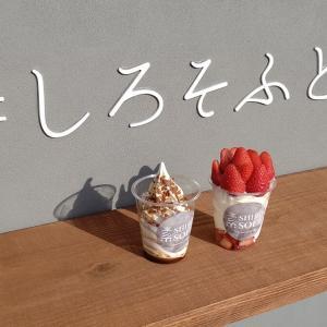 【曙町】素ソフト(シロソフト) 福山のソフトクリーム専門店が映える!