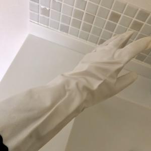 やっと見つけた!白いゴム手袋♡