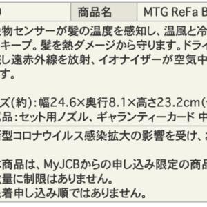 JCBザ・クラス メンバーズセレクション 2021(メンセレ2021)申し込み完了!