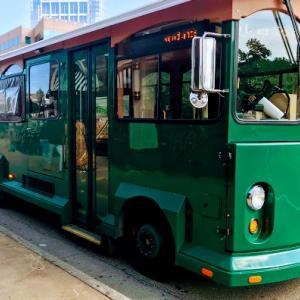 ウッドランズ(The Woodlands)の移動にはトローリーバスがオススメ!