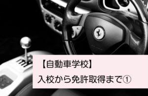 【娘の自動車学校通い】入校から免許取得まで①