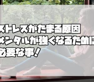 【メンタル】ストレスがたまる原因、メンタルが強くなるために必要な事!