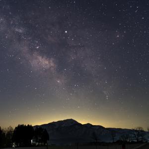 六呂師高原の星空