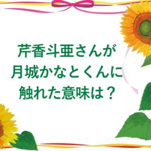 芹香斗亜さんが月城かなとくんに触れた意味は?
